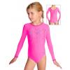 Gymnastický dres závodní D37d-58_F11 reflexní růžová