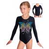 Gymnastický dres závodní D37d_k302 černá