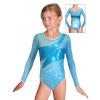 Gymnastický dres závodní D37d-2 tyrkysová