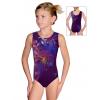 Gymnastický dres závodní D37r-t202 fialová s červenou