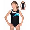 Gymnastický dres závodní D37r-14 černo-bílo-tyrkysová