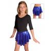 Taneční sukně kolová D807 modrá