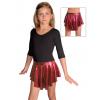 Taneční sukně kolová D807 červená