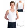 Gymnastický dres chlapecký D37chn bílý matný