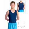 Gymnastický dres chlapecký D37chn tmavě modrý lesklý