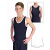 Gymnastický dres chlapecký D37chnl černo bílý matný