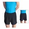 Gymnastické šortky závodní D36gs černé lesklé