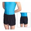 Gymnastické šortky závodní D36D36gs_2 úzké, krátké černé matné