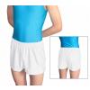 Gymnastické šortky závodní D36D36gs_2 úzké, krátké bílé matné