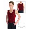 Gymnastický dres chlapecký D37chnl_t400 tmavě červená