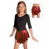 Taneční sukně kolová D807 červená s kolečky