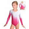 Gymnastický dres závodní D37d-53 t309 s růžovou