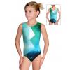 Gymnastický dres závodní D37r-52_t208 zelenotyrkysová