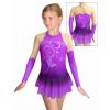 Krasobruslařské šaty - trikot K739 t502 fialová