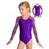 Gymnastický dres závodní D37d-8 s fialovou krajkou