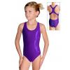 Dívčí sportovní plavky jednodílné PD622 fialová metalíza