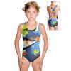 Dívčí sportovní plavky jednodílné PD623 v385