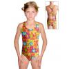 Dívčí sportovní plavky jednodílné PD623 v375