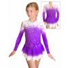Krasobruslařské šaty - trikot K739 t600 fialová
