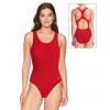 Dámské sportovní plavky jednodílné P622  červená