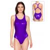 Dámské sportovní plavky jednodílné P622  fialová metalíza