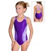 Dívčí sportovní plavky jednodílné PD625sl fialová