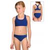 Dívčí sportovní plavky dvoudílné PD658 modrá