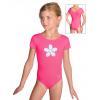 Gymnastický dres S37kkg_n60 reflexní růžová