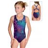 Dívčí sportovní plavky jednodílné PD623 t202 tmavě modrá