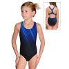 Dívčí sportovní plavky jednodílné PD623 t401 s modrou