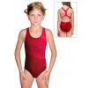Dívčí sportovní plavky jednodílné PD623 t403 červená