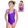 Dívčí sportovní plavky jednodílné PD626sl fialová