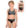 Dívčí sportovní plavky dvoudílné PD658 t101 černošedá