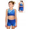 Sportovní top s kraťasy D346-4+36k-4 t101 modrá