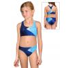 Dívčí sportovní plavky dvoudílné PD661 t208 modrá