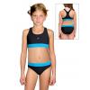 Dívčí sportovní plavky dvoudílné PD662 s tyrkysovou