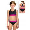 Dívčí sportovní plavky dvoudílné PD662 s růžovou