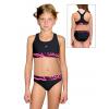 Dívčí sportovní plavky dvoudílné PD662 v343 černá