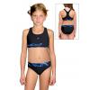 Dívčí sportovní plavky dvoudílné PD662 v345 černá