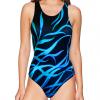 Dámské sportovní plavky jednodílné P623 v505