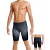 Pánské plavky s nohavičkou P102 t808 šedočerná