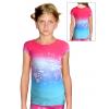 Sportovní tričko D347 t113 růžovotyrkysová