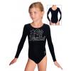 Gymnastický dres B37dg f46 černá elastická bavlna
