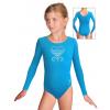 Gymnastický dres B37dg f45 tyrkysová elastická bavlna