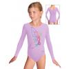 Gymnastický dres B37dg f55 světle fialová elastická bavlna