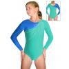 Gymnastický dres závodní D37d-51 v315xx modrozelená