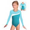 Gymnastický dres B37d-3 modrozelená