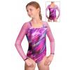 Gymnastický dres závodní D37d-47 v370 s růžovou