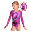 Gymnastický dres závodní D37d-8 v370 s tmavě růžovou