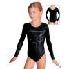 Gymnastický dres závodní D37dsl F27 černá metalíza